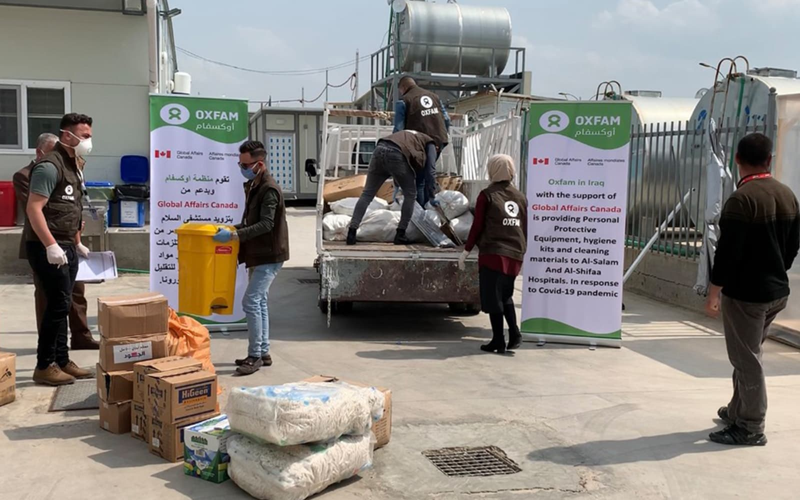 Une distribution de matériel sanitaire auprès des hôpitaux en Irak par Oxfam