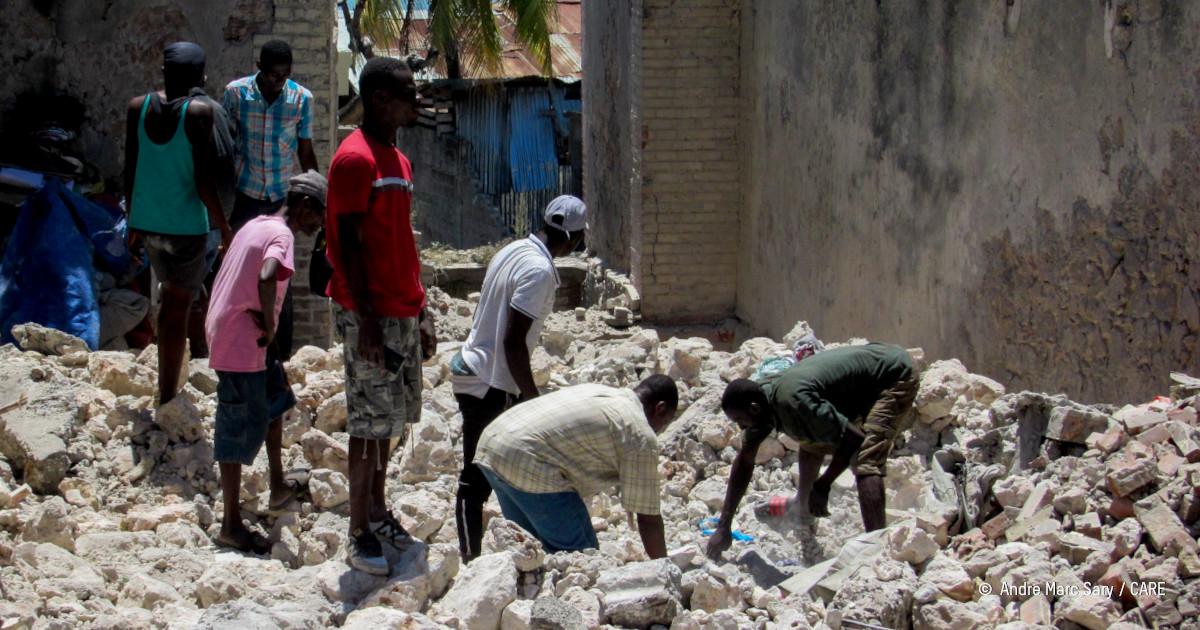 dégâts après le séisme en Haiti