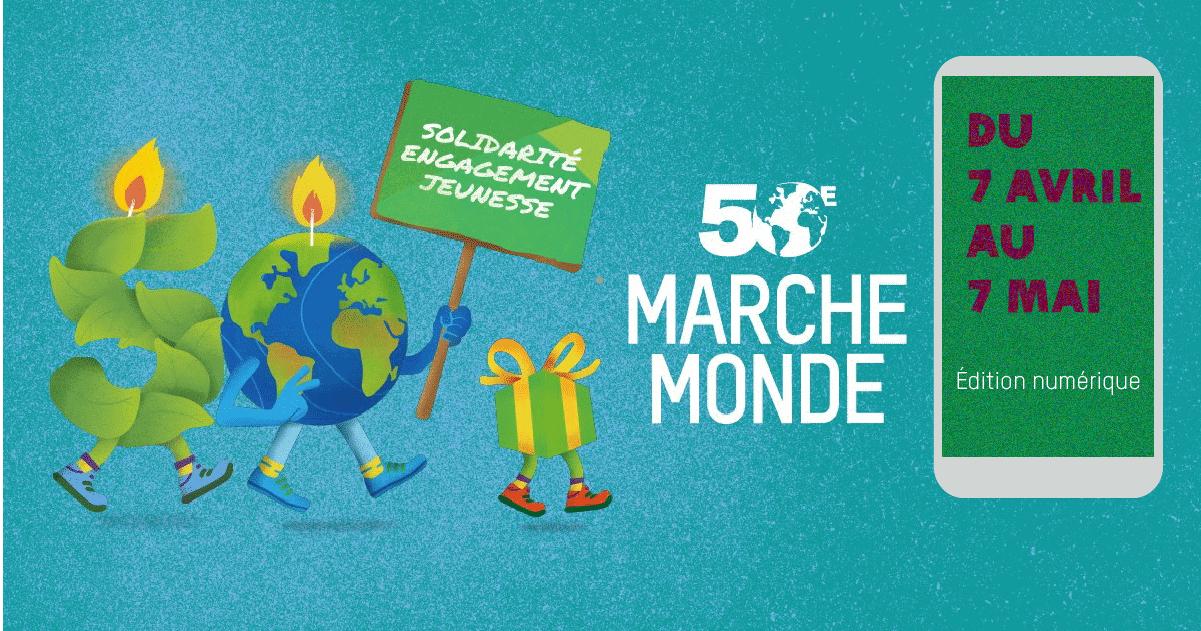 illustration de la 50e Marche Monde en édition numérique