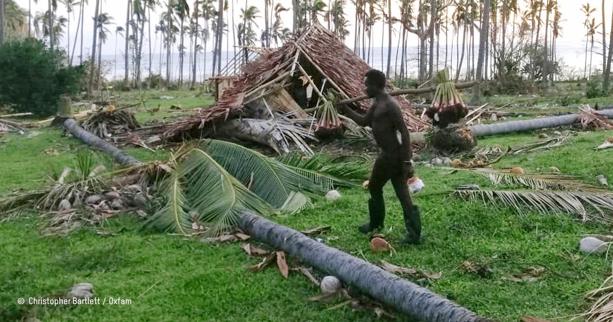 Habitation détruite au Vanuatu