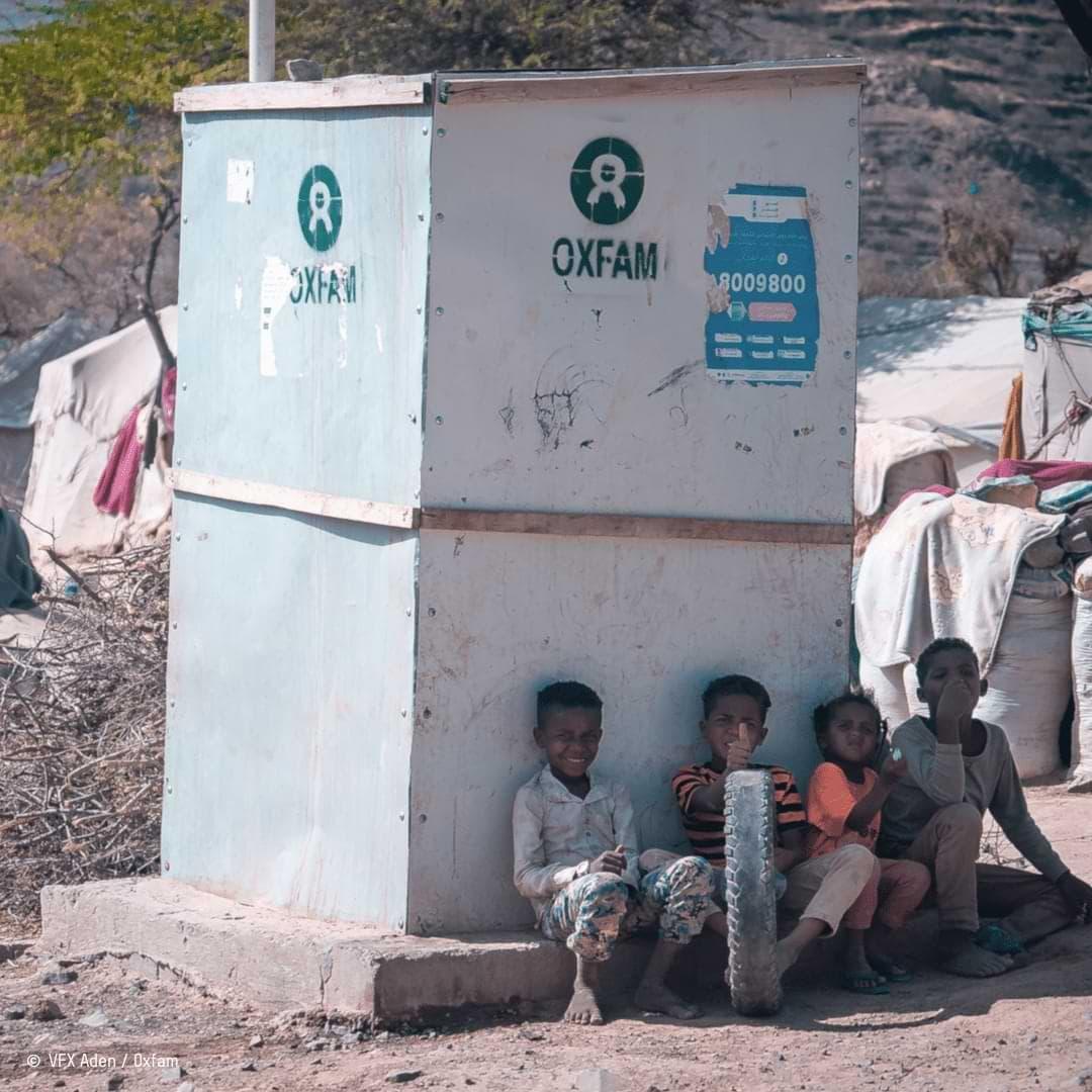 camp de personnes réfugiées au Yémen